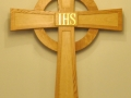 2013-10-01  Holy Trinity Church Cross.  John Fowler of Bear River was commissioned to create this cross for the sanctuary.